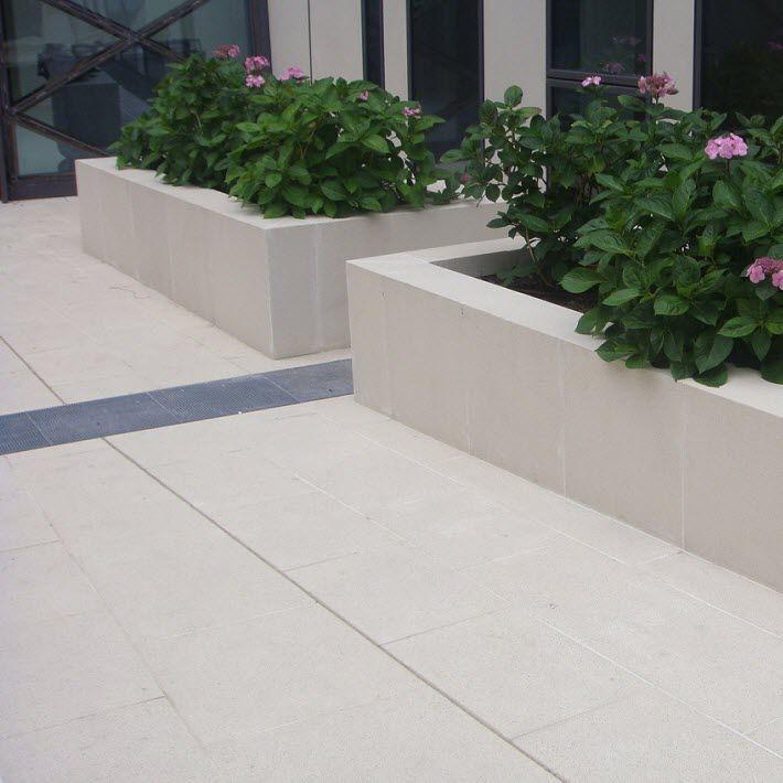 baldosa de exterior para pavimento de material compuesto acrysol rebeton
