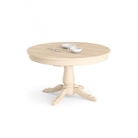 Mesa de comedor clásica / de madera maciza / redonda / extensible ...