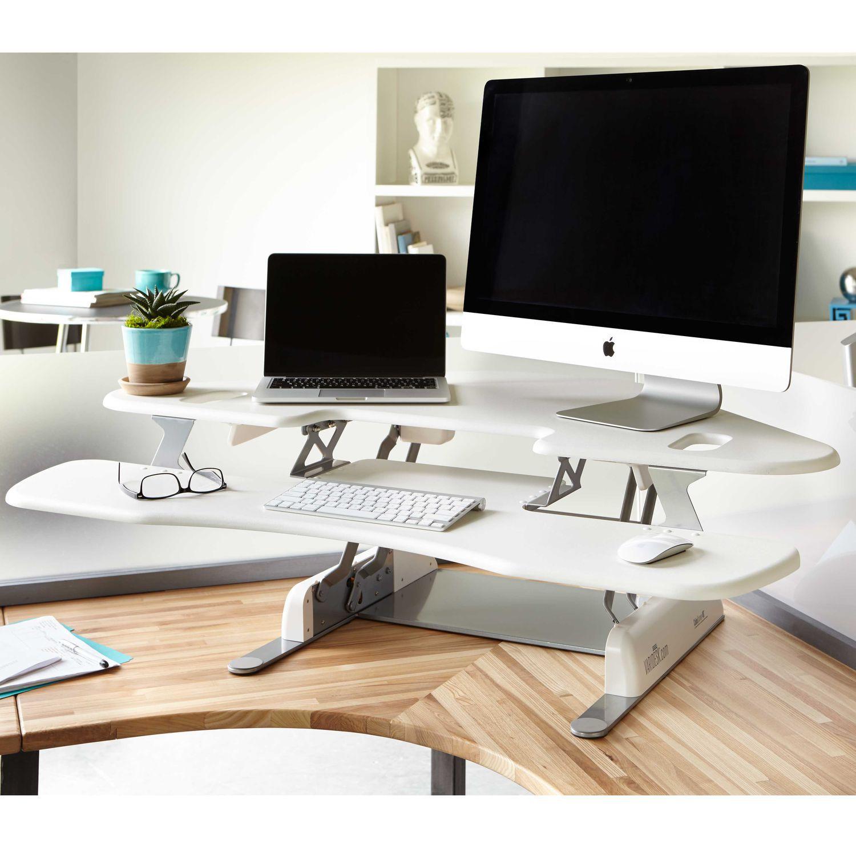 escritorio de metal moderno profesional de esquina cube corner white varidesk
