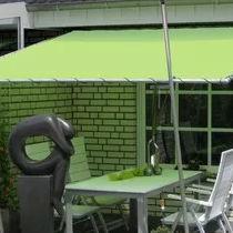marquesina para terraza de lona de metal