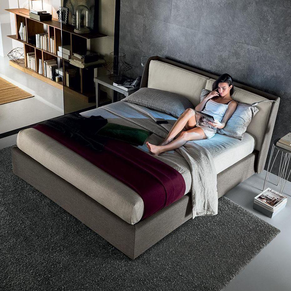 Matrimonio Bed : Cama de matrimonio moderna tapizada con cabecero tapizado