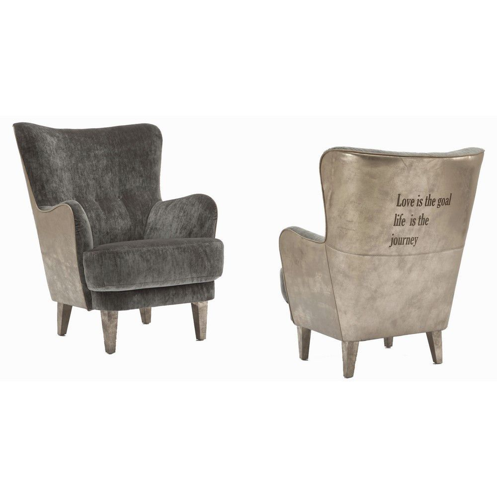 Sillón clásico / de tejido / de cuero / Bergere - ELLE - Estetik Decor