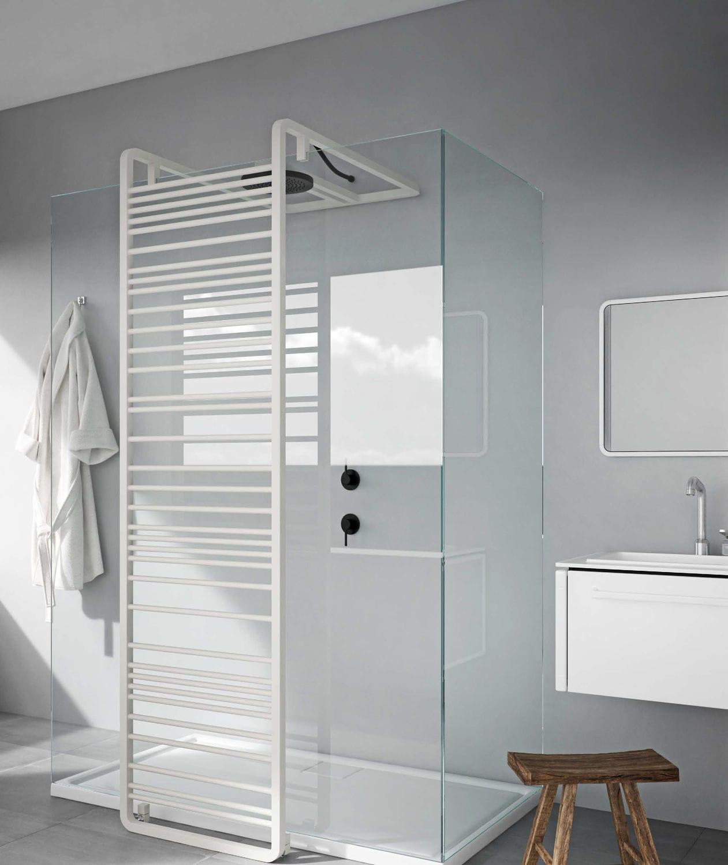 radiador toallero de agua caliente   de acero inoxidable   moderno   de baño  - PANTAREI DOCCIA 3f296225cecd