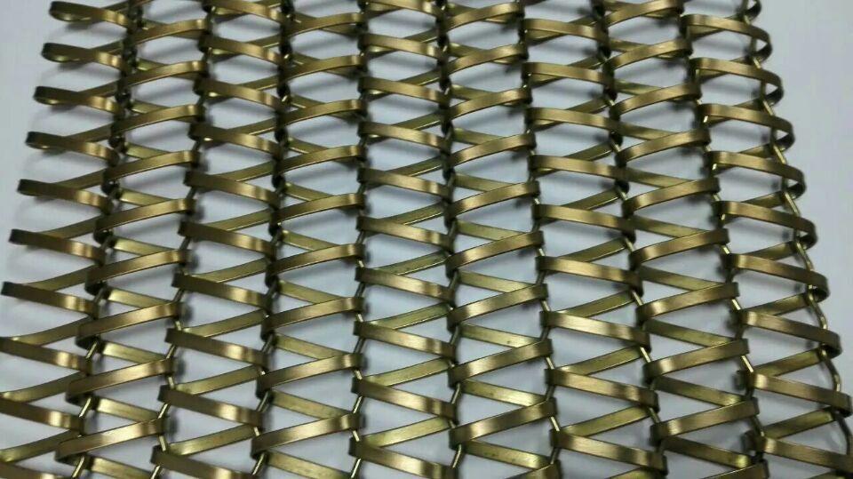 Malla metálica para fachada / para tabique / trama triangular - YR ...