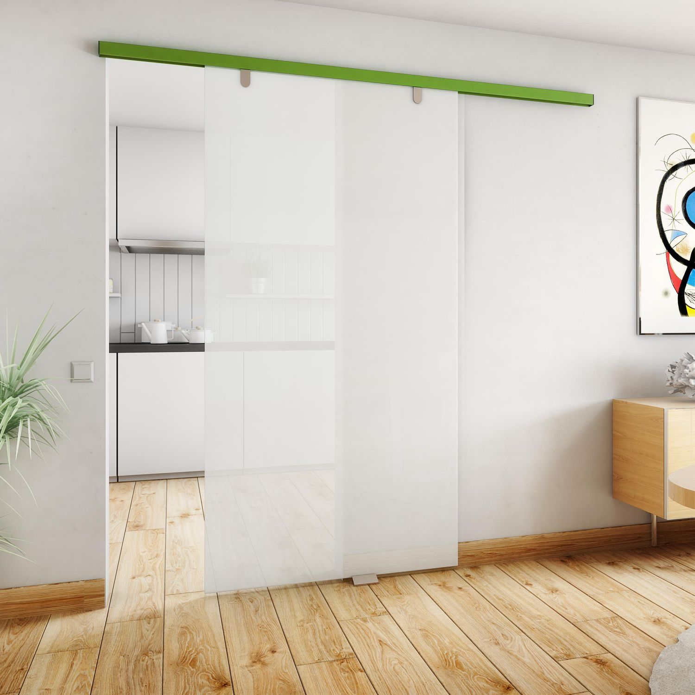 Puerta de interior / corredera / de madera / de vidrio - EVODRIVE ...