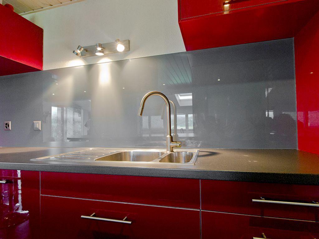 Vidrios Para Cocinas Vidrio Pintado De Mm Rojo With Vidrios Para  ~ Cristales Decorados Para Cocinas