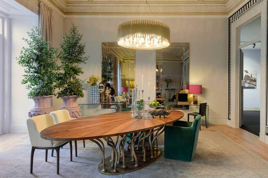 Mesa de comedor / de diseño orgánico / de fibra de vidrio / de ...