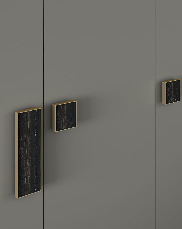 Armario moderno / de madera lacada / con puertas batientes - RUBY ...