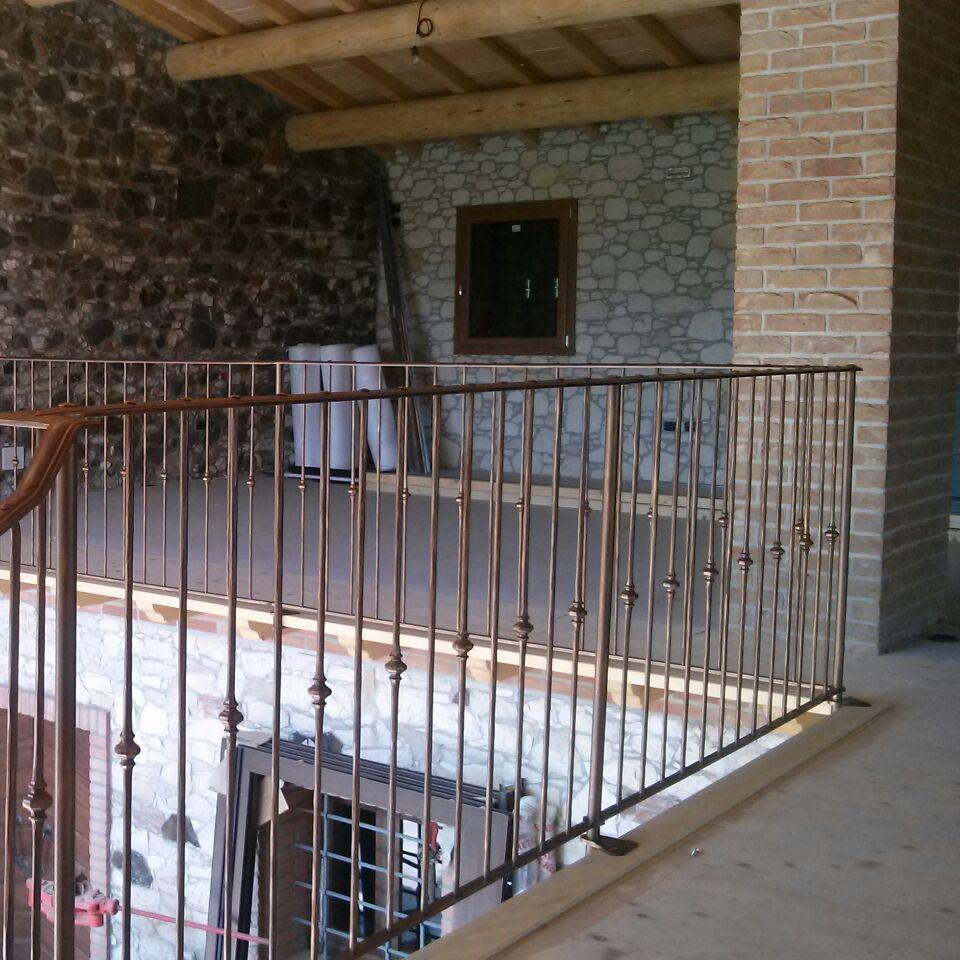 Barandilla de hierro forjado / con barrotes / de exterior / para ...