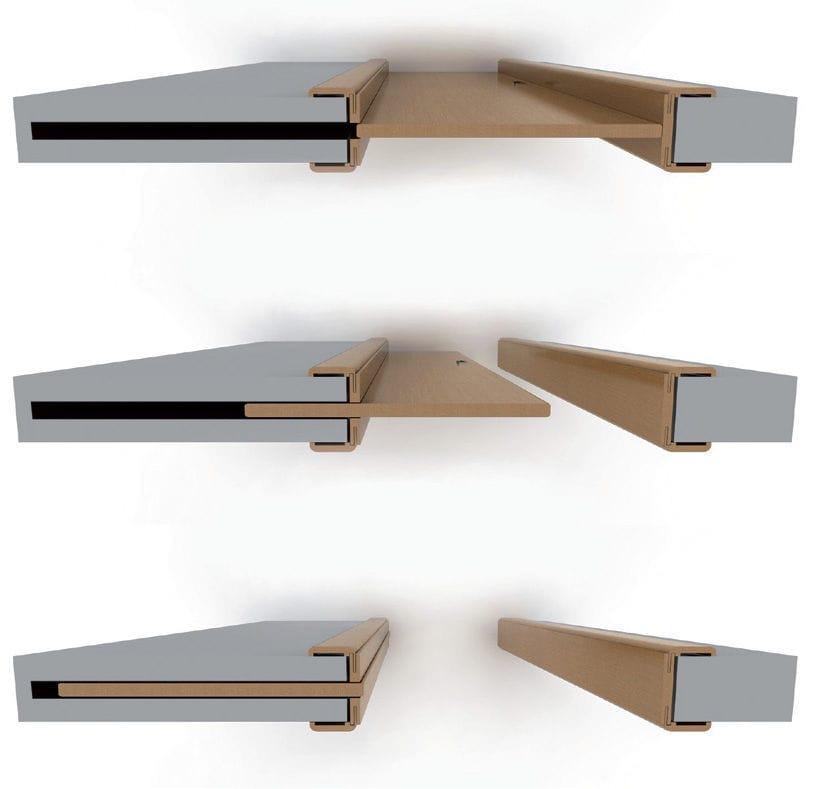 Sistema corredizo oculto para puerta corredera - Ville Doors