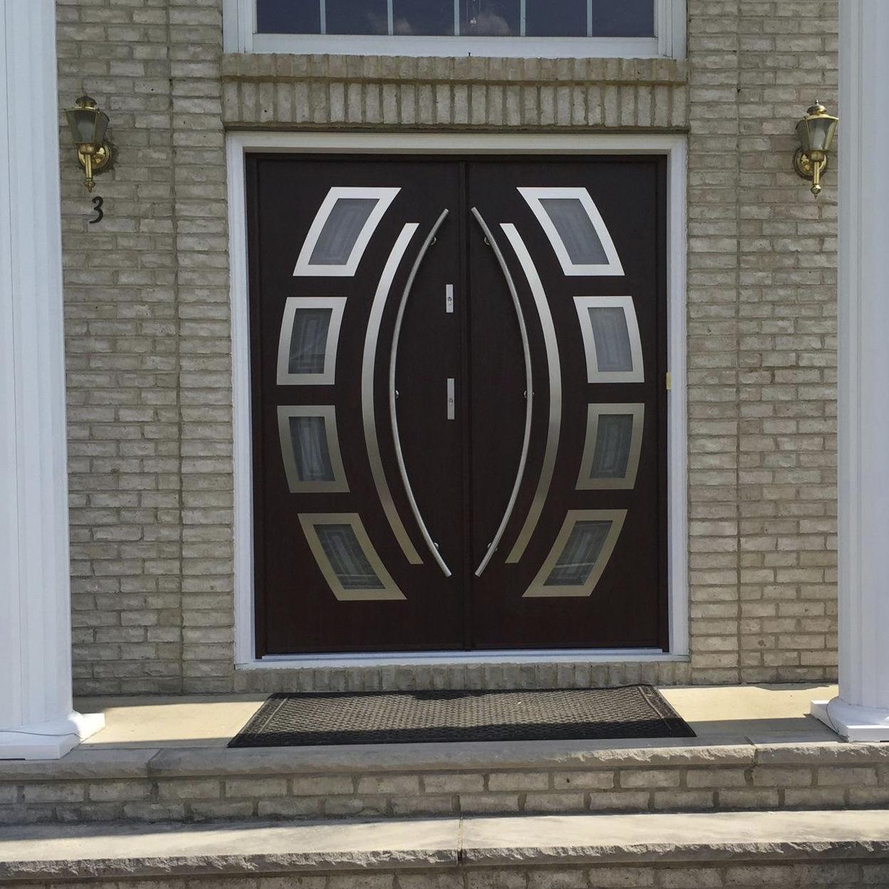 Puerta de entrada / abatible / de acero inoxidable / de seguridad ...