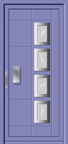 puerta de entrada abatible de aluminio hierro aluporta