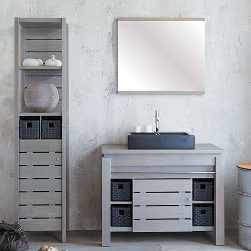 Mueble de lavabo de pie / de roble / clásico / prefabricado ...