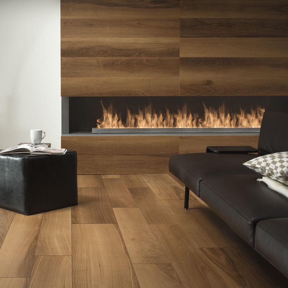 baldosa aspecto madera de exterior de suelo para pavimento life noce