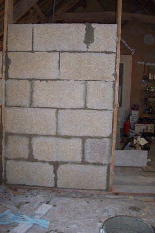 Bloque de hormigón de cáñamo / para muro / para tabique / de alta ...
