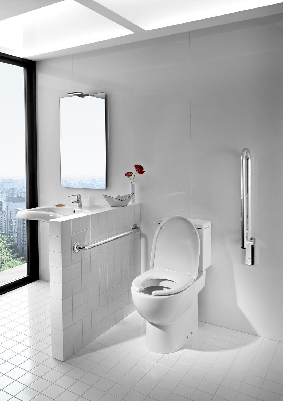 Barra de apoyo de metal / en U / de pared / para cuarto de baño ...