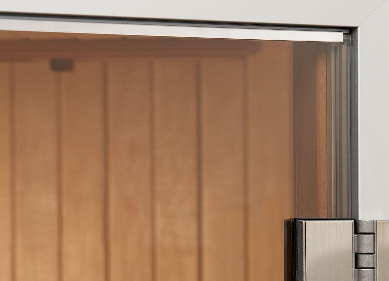 puerta de interior corredera de madera de vidrio alu line tylo