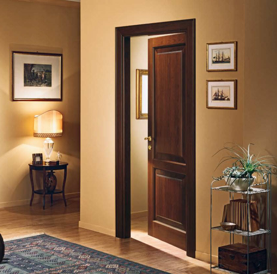 Puerta de interior / abatible / de madera maciza - 2В - GAROFOLI