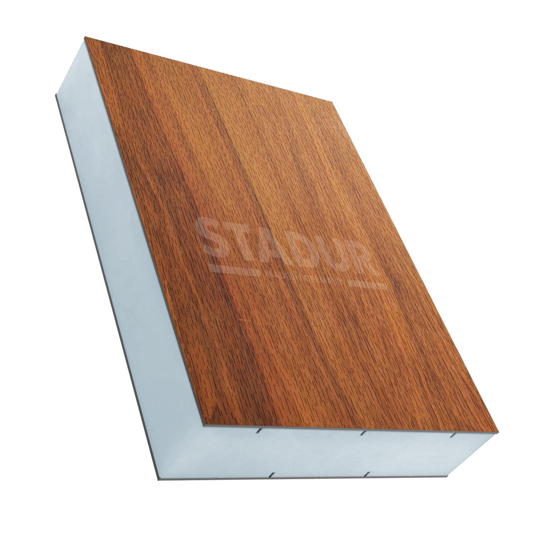 Panel sándwich aislante para puerta / para fachada / 2 caras de ...