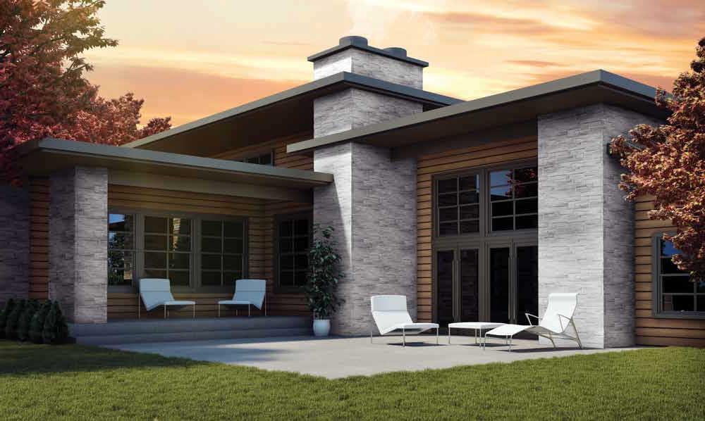 Revestimiento De Fachada De Polimero Texturado De Paneles - Revestimiento-fachadas-piedra