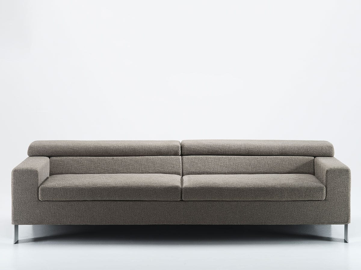 Sofá modular / moderno / de cuero / de tejido - IAN by Marco Mangili ...
