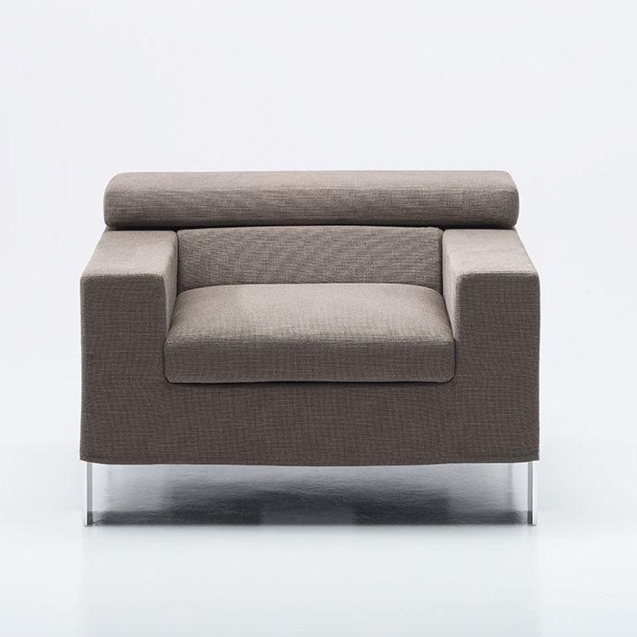 Sillón moderno / de tejido / de cuero / reclinable - IAN by Marco ...
