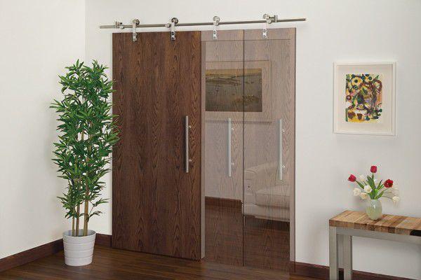 Puerta de interior / corredera / de madera / decorativa - SDH - Doug ...