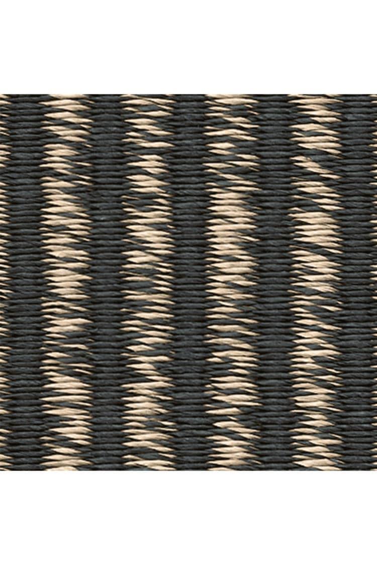 alfombra moderna de rayas de fibras de papel rectangular field by ritva puotila