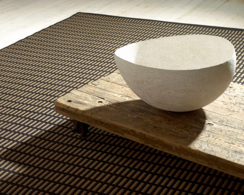 alfombra moderna de rayas de algodn de fibras de papel new york by