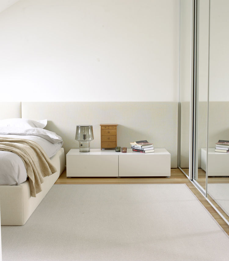 Cabecero para cama doble / moderno / de tejido / tapizado - Woodnotes