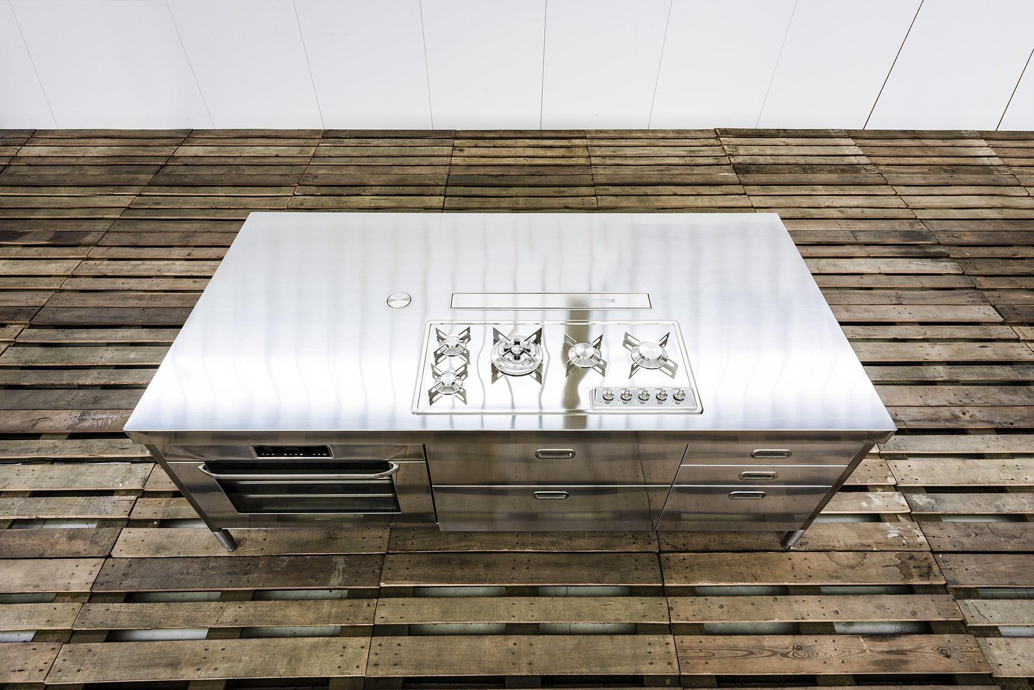 Isla de cocina - 250 WITH BUILT-IN EXTRACTOR HOOD - ALPES-INOX