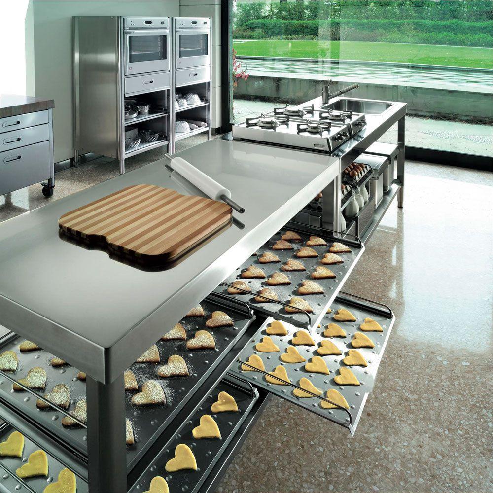 mesa carrito de servicio de acero inoxidable de madera para cocina profesional storage