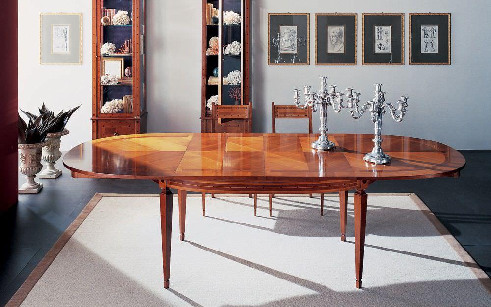 Mesa de comedor clásica / de cerezo / ovalada / extensible - C1013 ...