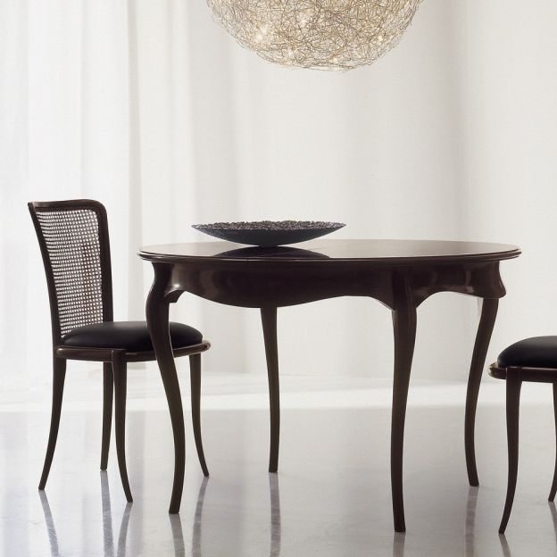 Mesa de comedor de estilo / de cerezo / redonda / extensible - C1202 ...