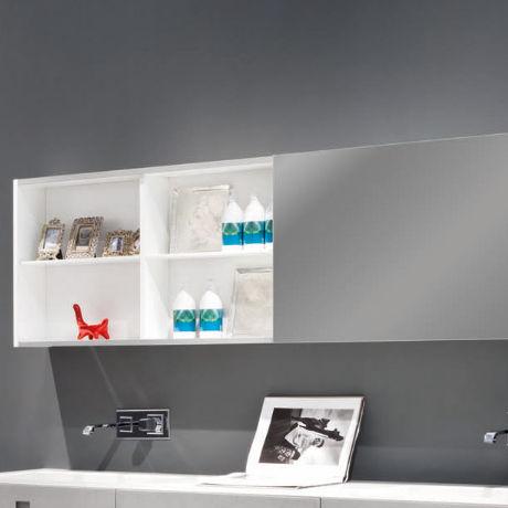 Mueble de pared para cuarto de baño con espejo - KUBE ...