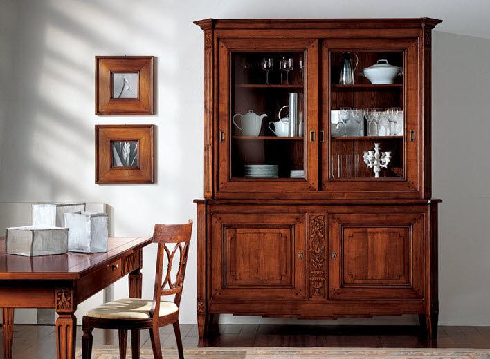 Vitrina aparador clásica / de madera - FIOCCO DI SETA - BAMAX