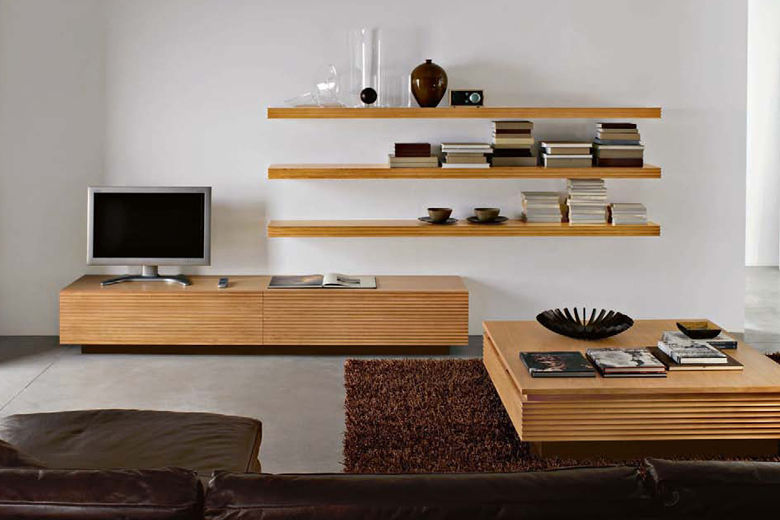 mueble de televisin moderno de madera century day natural