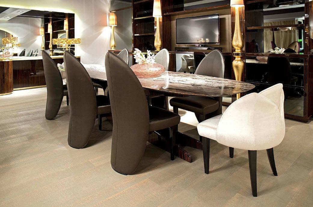 Mesa de comedor moderna / de madera / de mármol / ovalada - EDEN ...
