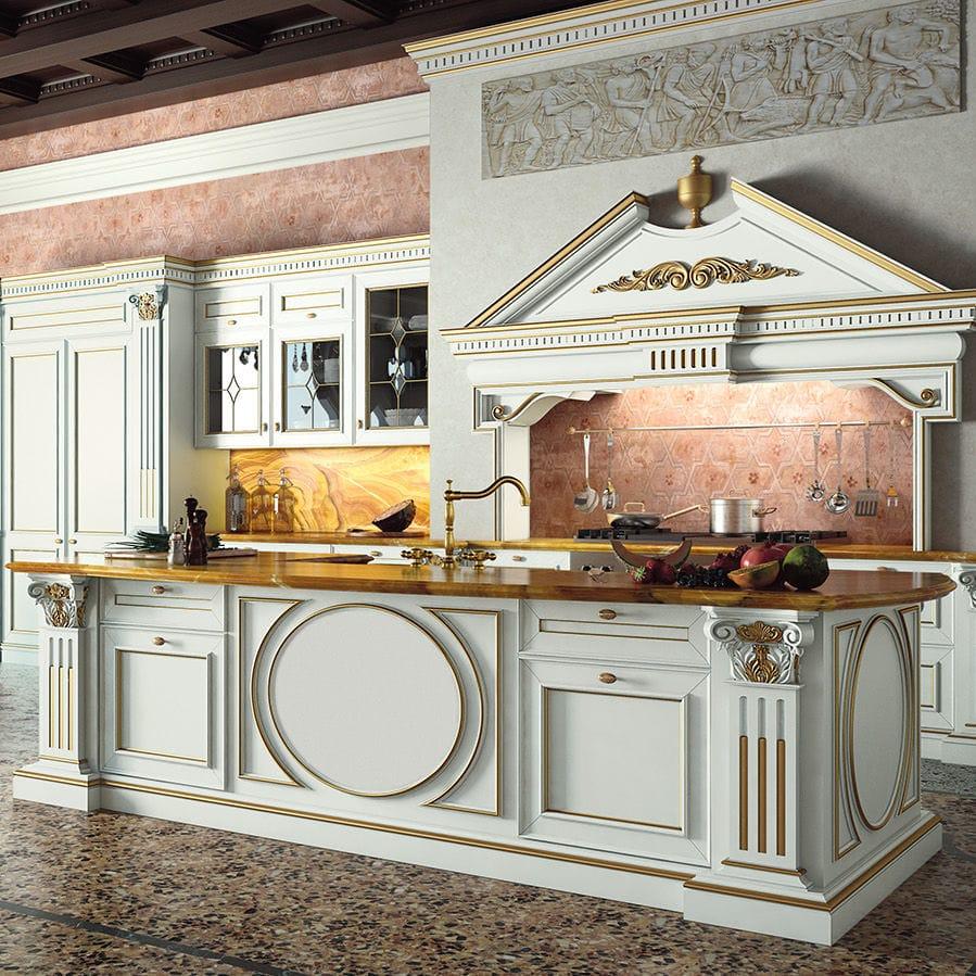 Cocina de estilo / de madera lacada / con isla - CANAL GRANDE by ...