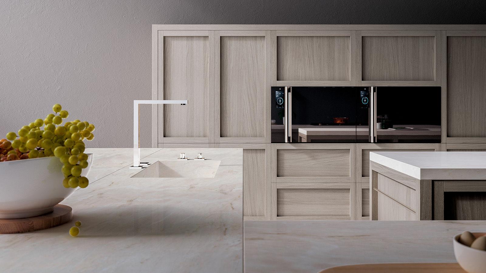 Cocina moderna / de madera maciza / de roble / con isla - LEGNO VIVO ...