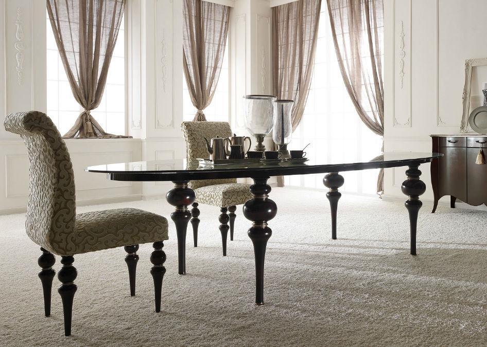 Mesa de comedor / de estilo / de madera / ovalada   dolcevita ...
