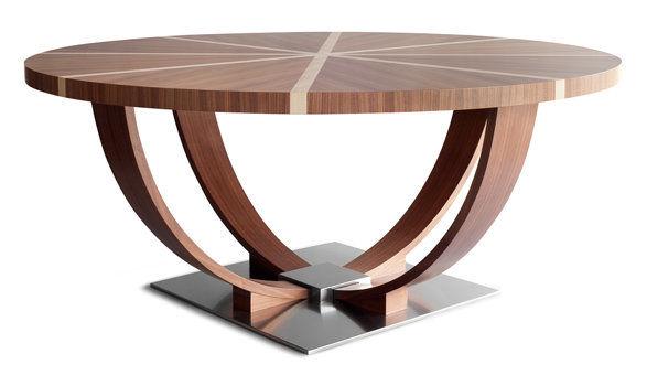 t01501 mesa de reuniones clsica de madera redonda scarlatti ic - Mesa Redonda Madera