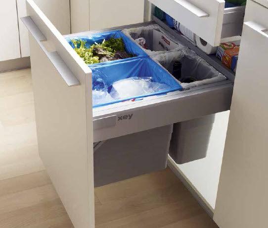 Cubo de basura para cocina / empotrable / de plástico / moderno - xey