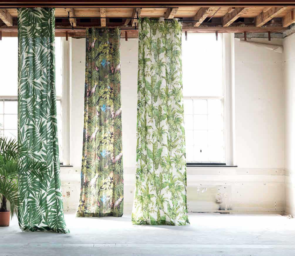 Tela para cortinas / de tapicería / de color liso / de flores