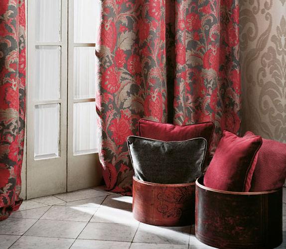 Tela para cortinas / de flores / de viscosa   BRITTANY : SAINT