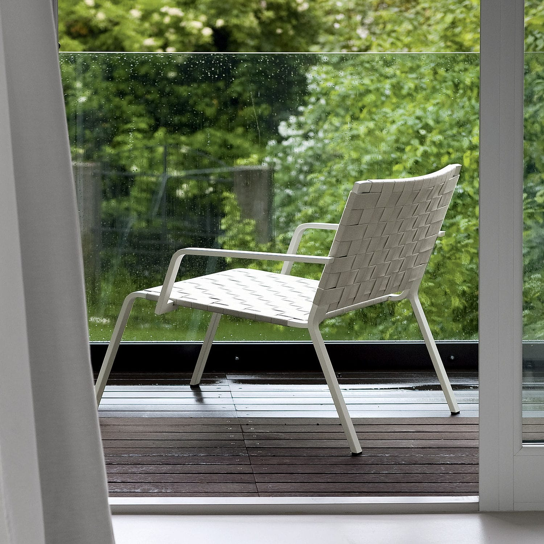 Sillón de diseño minimalista / de aluminio / de poliéster / de ...