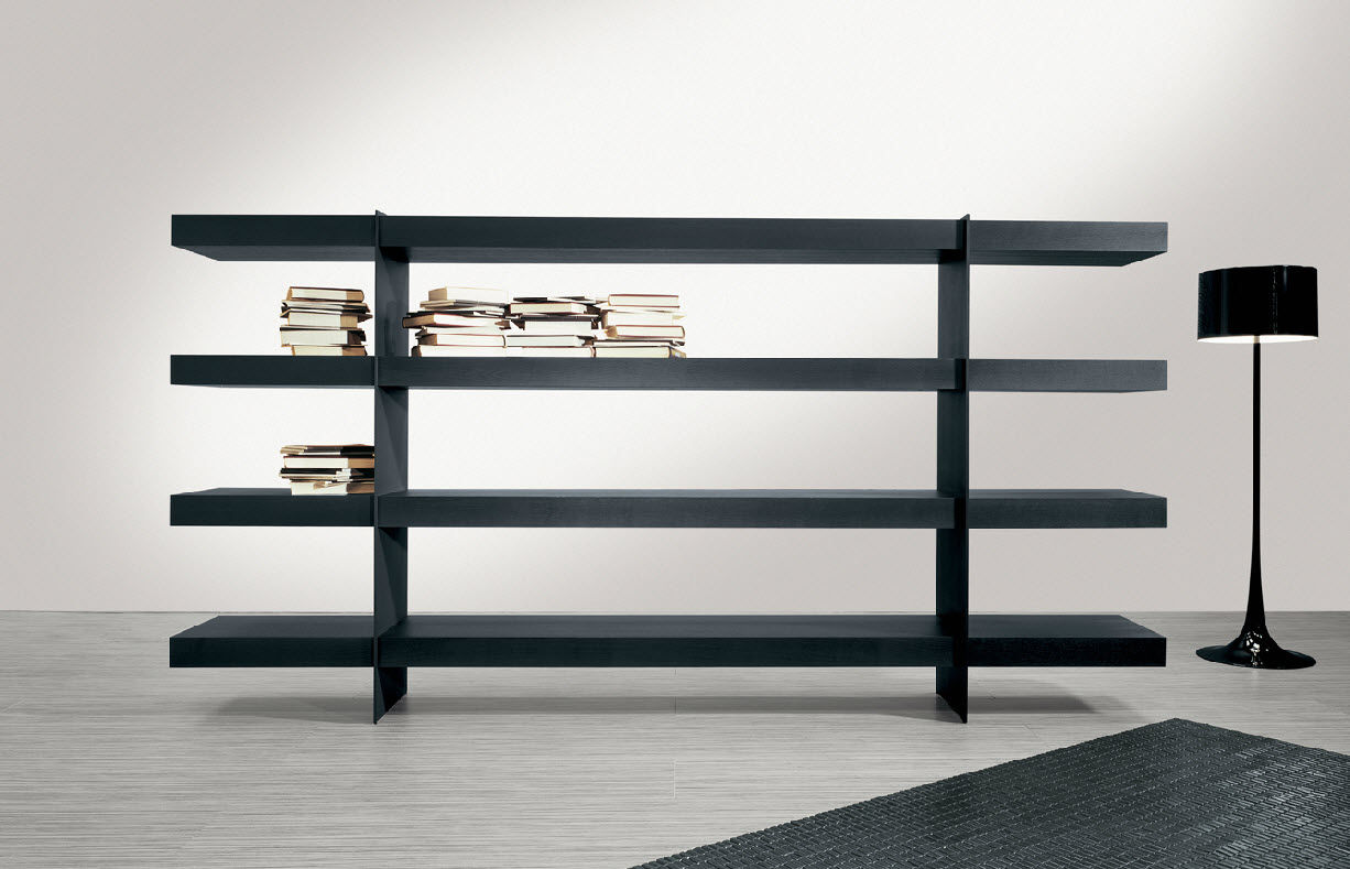 estantera moderna de madera de metal barcelona by gvegni g gualtierotti