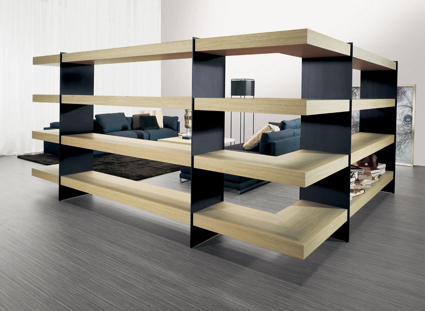 estantera moderna de madera de metal barcelona by gvegni g