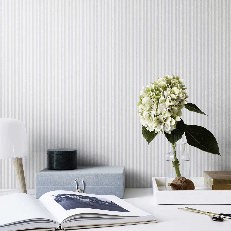 6341c9e84e7 Papel pintado moderno / de rayas / blanco / gris - FABIAN - SAND BERG