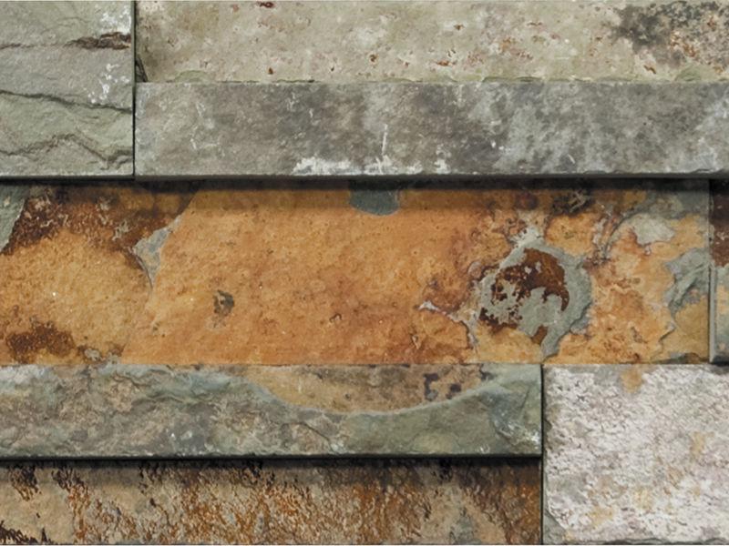 baldosa de exterior de pared de piedra natural de pizarra globe wall nepal